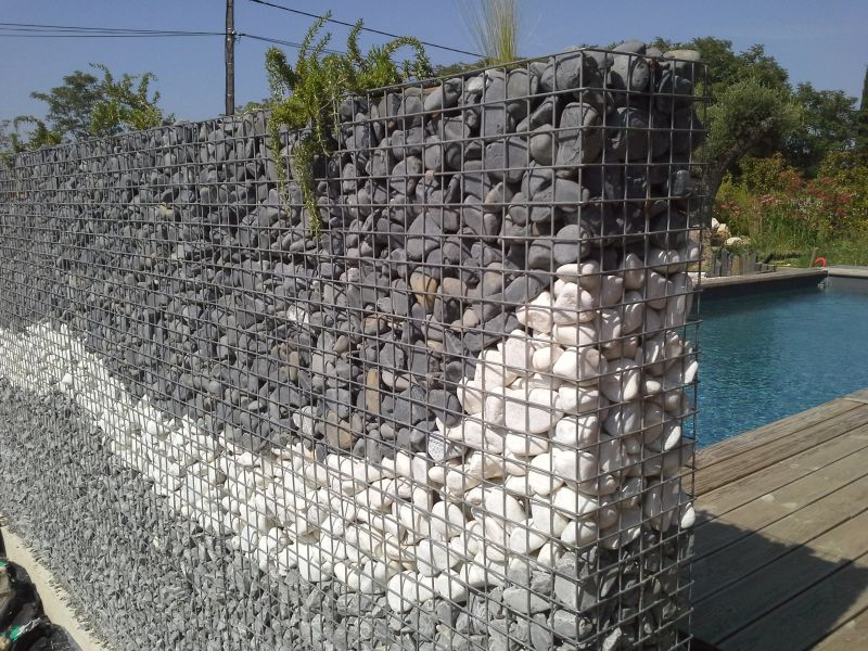 le gabion de jardin. Black Bedroom Furniture Sets. Home Design Ideas